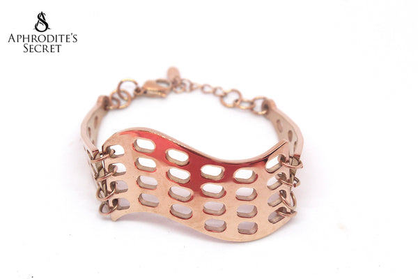 Aphrodite's Secret High Quality Stainless Steel Bracelet Cuff Design (Rose Gold)