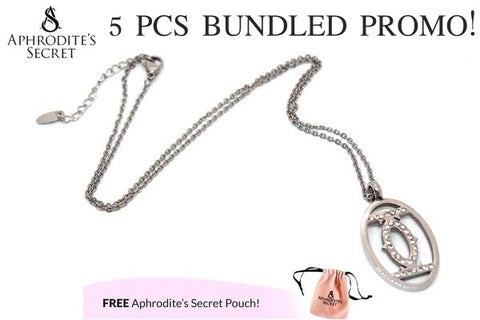 Aphrodite's Secret High Quality Stainless Steel Eye Design Pendant + Necklace (5 PCS)