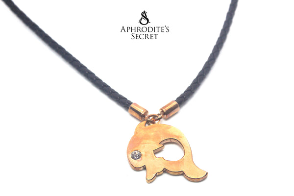 Aphrodite's Secret High Quality Leather Necklace Retro Big Pendant Rabbit Design