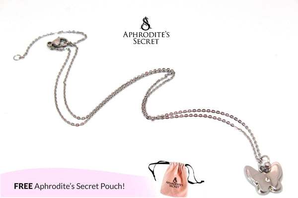 Aphrodite's Secret High Quality Stainless Steel Classic Butterfly Design Pendant + Necklace