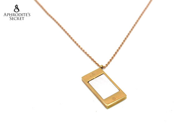 Aphrodite's Secret Stainless Steel High Quality Necklace  Mobile Phone Design (Gold)
