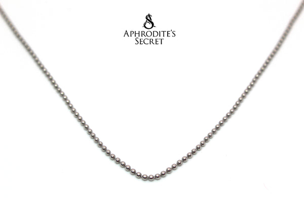 Aphrodite's Secret High Quality Stainless Steel Necklace Plain Bead Design