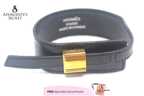 High Quality Leather Bracelet  Cuff Hermes inspired Design