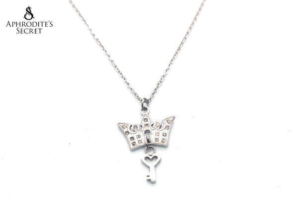 Aphrodite's Secret High Quality Stainless Steel Necklace Princess crown key Design