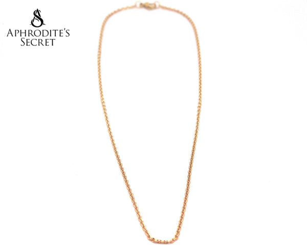 Aphrodite's Secret Stainless Steel High Quality Necklace  Classic Plain design (Gold)