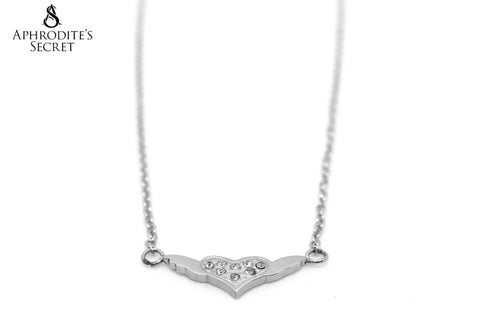 Aphrodite's Secret Stainless Steel High Quality Necklace  Wing Heart Design