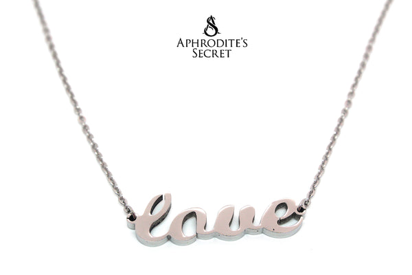 Aphrodite's Secret High Quality Stainless Steel Love Design Pendant + Necklace