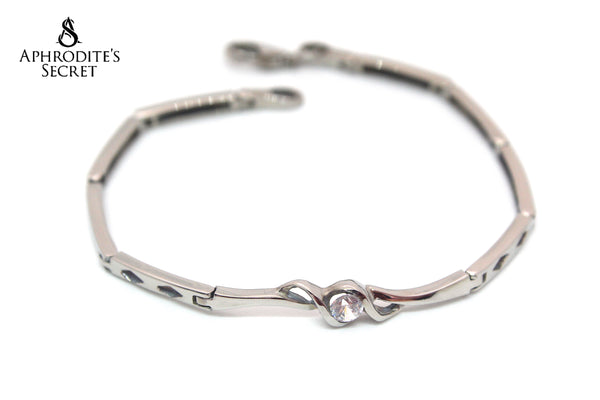 Aphrodite's Secret High Quality Stainless Steel Bracelet Rhinestone Classic Design