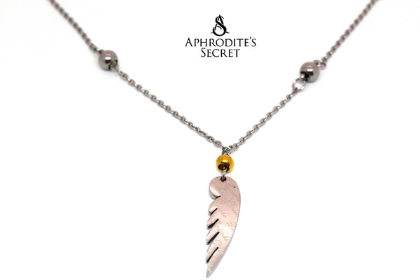 Aphrodite's Secret High Quality Stainless Steel  Wing Design Pendant + Necklace