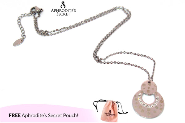 Aphrodite's Secret High Quality Stainless Steel Interlocking Circles  Design Pendant + Necklace