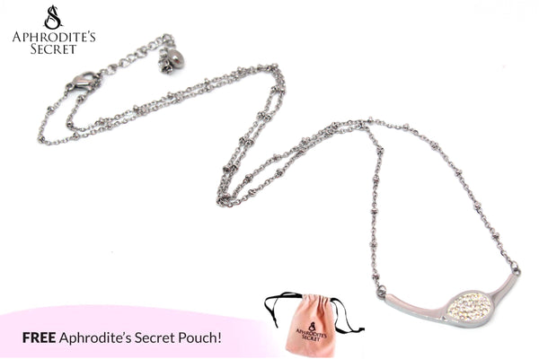 Aphrodite's Secret High Quality Necklace Stainless Steel Curved Cystal Design