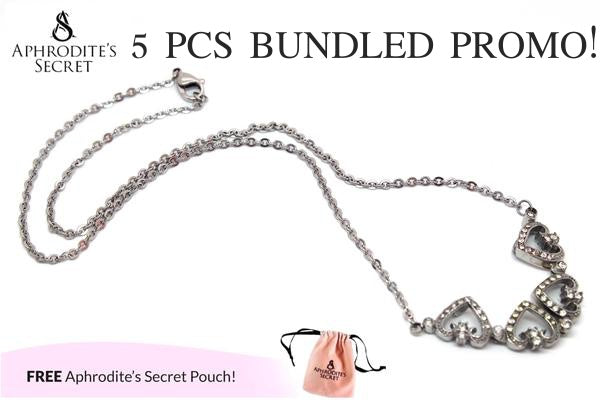 Aphrodite's Secret High Quality Stainless Steel Four Leaf Hearts Design Pendant Necklace (5 PCS)