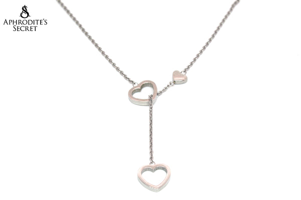 Aphrodite's Secret High Quality Stainless Steel Classic Mini Hearts Design Pendant + Necklace