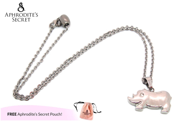 Aphrodite's Secret High Quality Stainless Steel Hippo Design Pendant + Necklace