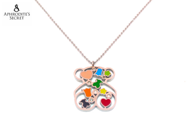 High Quality Stainless Steel Bear Tous inspired Design Pendant + Necklace