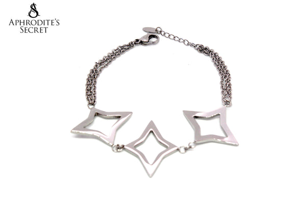 Aphrodite's Secret High Quality Stainless Steel Bracelet Big Stars Design