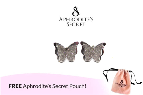 Aphrodite's Secret High Quality Stainless Steel Silver Layered Butterfly Design Earrings