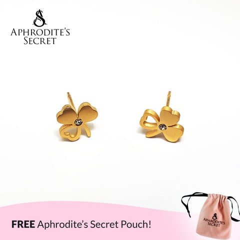 Aphrodite's Secret High Quality Stainless Steel Gold Flower Petals Design Earrings