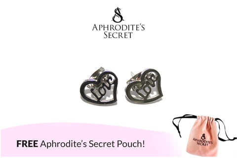 Aphrodite's Secret High Quality Stainless Steel Love Heart Design Earrings
