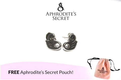Aphrodite's Secret High Quality Stainless Steel Swan Design Earrings