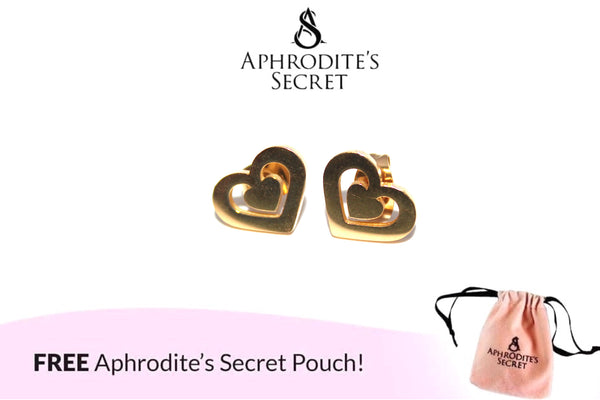 Aphrodite's Secret High Quality Stainless Steel Gold Classic Heart Design Earrings