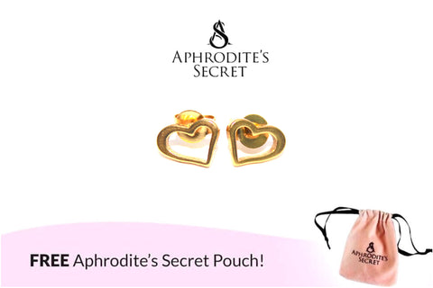 Aphrodite's Secret High Quality Stainless Steel Gold Simple Heart Design Earrings