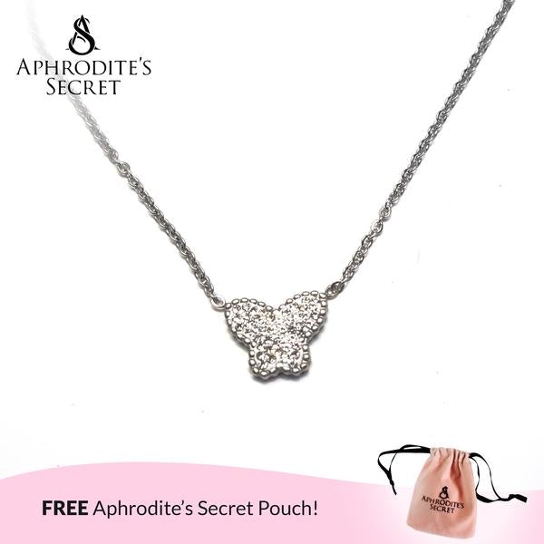 Aphrodite's Secret High Quality Stainless Steel Butterfly stud Design Pendant + Necklace (5 PCS)