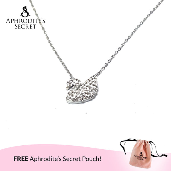 Aphrodite's Secret High Quality Stainless Steel Swan stud Design Pendant + Necklace