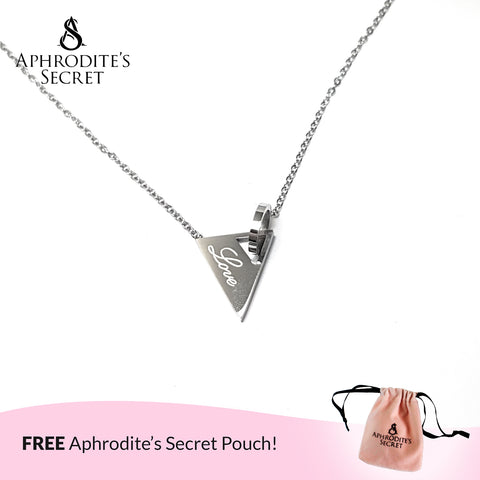 Aphrodite's Secret High Quality Stainless Steel Elegant Love Design Pendant + Necklace