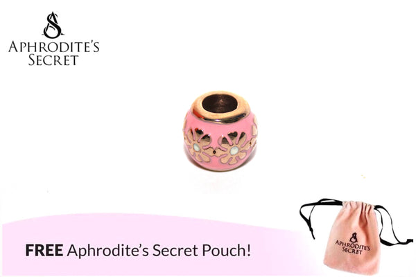 Aphrodite's Secret High Quality Gold Floral Pink Charm Bead (Pandora Inspired) Stainless Steel