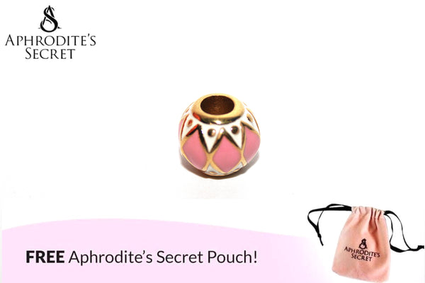 Aphrodite's Secret High Quality Gold & Pink Tribal-patterned Charm Bead (Pandora Inspired) Stainless Steel