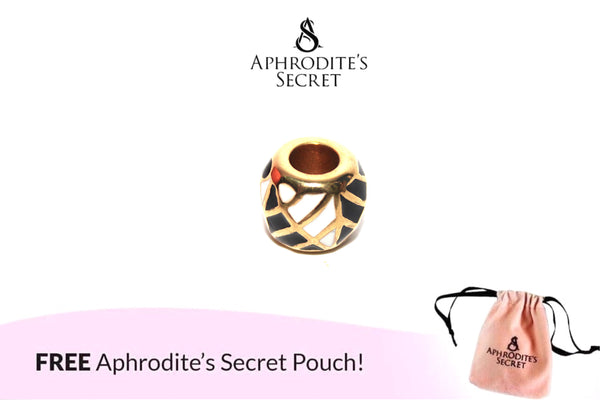 Aphrodite's Secret High Quality Black & White Triangle Patterned Charm Bead (Pandora Inspired) Stainless Steel (Gold)