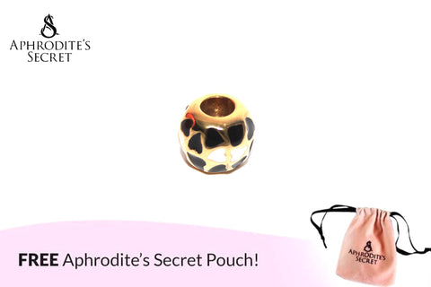 Aphrodite's Secret High Quality Black & White Hearts Charm Bead (Pandora Inspired) Stainless Steel (Gold)