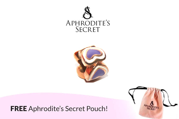 Aphrodite's Secret High Quality Purple & White Hearts Charm Bead (Pandora Inspired) Stainless Steel (Gold)