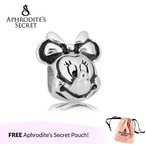 Aphrodite's Secret High Quality Minnie Design (Pandora Inspired) Stainless Steel