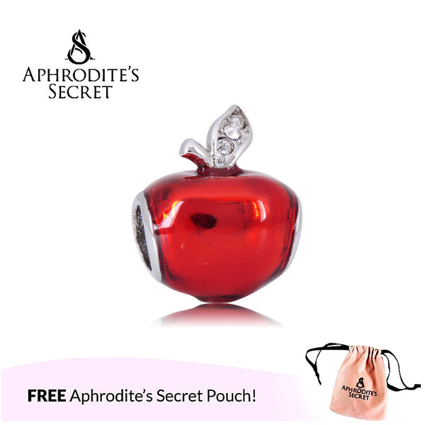 Aphrodite's Secret High Quality Snow White Red Apple Design (Pandora Inspired) Stainless Steel