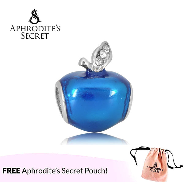 Aphrodite's Secret High Quality Blue Apple Design (Pandora Inspired) Stainless Steel