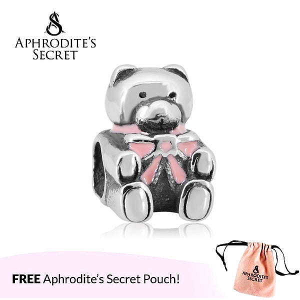 Aphrodite's Secret High Quality Pink Cute Bear Design (Pandora Inspired) Stainless Steel