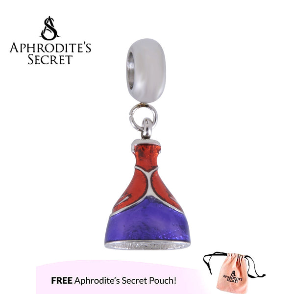 Aphrodite's Secret High Quality Snow White Princess Gown Design (Pandora Inspired) Stainless Steel (Red+Blue)