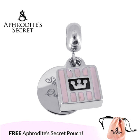 Aphrodite's Secret High Quality  Shopping Queen Statement Design (Pandora Inspired) Stainless Steel (Pink)