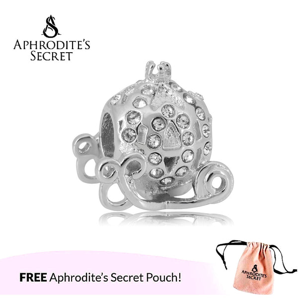 Aphrodite's Secret High Quality Rhinestones Princess Carriage Design (Pandora Inspired) Stainless Steel