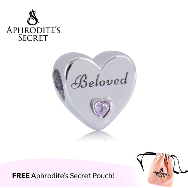 Aphrodite's Secret High Quality 'Beloved' Heart Design (Pandora Inspired) Stainless Steel