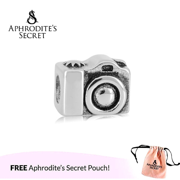 Aphrodite's Secret High Quality Camera Traveller Design (Pandora Inspired) Stainless Steel