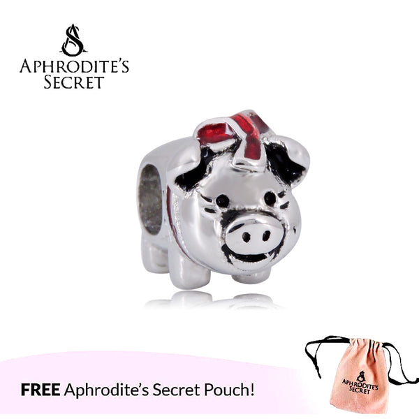 Aphrodite's Secret High Quality Cute Miss Piggy Design (Pandora Inspired) Stainless Steel