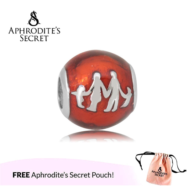 Aphrodite's Secret High Quality Family Design (Pandora Inspired) Stainless Steel  (Red)