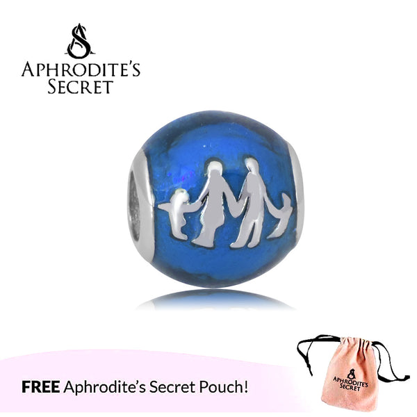 Aphrodite's Secret High Quality Family Design (Pandora Inspired) Stainless Steel  (Blue)