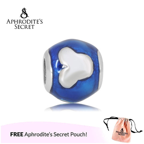 Aphrodite's Secret High Quality Mickey Design (Pandora Inspired) Stainless Steel  (Blue)