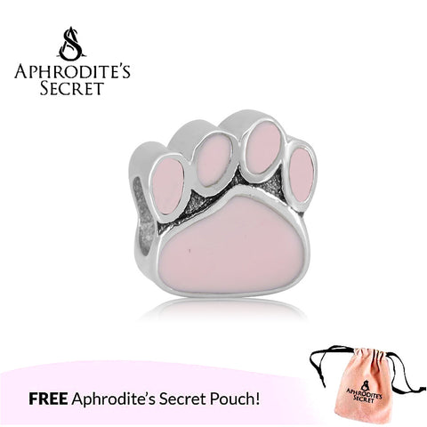 Aphrodite's Secret High Quality Pet Pink Paws (Pandora Inspired) Stainless Steel