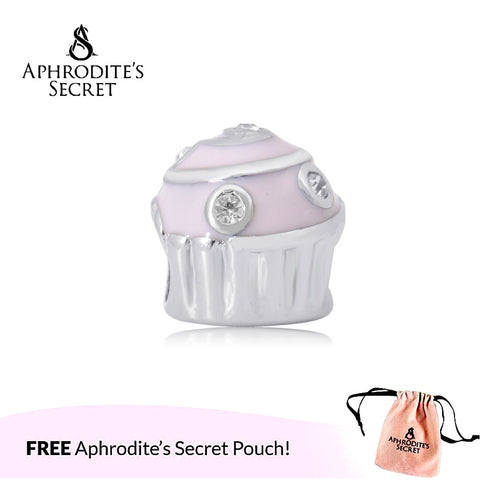 Aphrodite's Secret High Quality  Pink Cupcake (Pandora Inspired) Stainless Steel