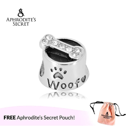 Aphrodite's Secret High Quality  Pet Dog Food Bowl Design (Pandora Inspired) Stainless Steel